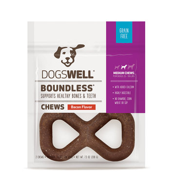 Dogswell Boundless Medium Bacon Flavored Dog Treats, 2pk 7.3oz