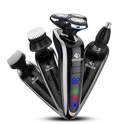 GCtown Electric Razor,Waterproof Eletric Shaver,USB Rechargeable Men's 360 Rotary Electric Shaving Razors