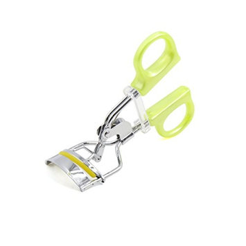 uxcell Yellow Plastic Handle Portable Eye Curling Eyelash Curler Clip Beauty Cosmetic Tool