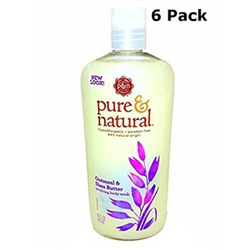 Pure & Natural Body Wash Soothing Oatmeal & Shea Butter 16 fl oz
