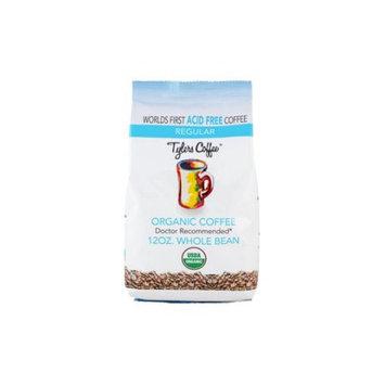 Tylers Acid Free Coffee 12oz Regular Whole Bean Bag USDA Certified Organic Acid Free Coffee