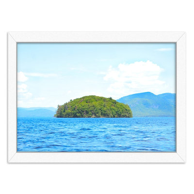 Americanflat Greeting From Nowhere Framed Wall Art, White