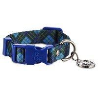 Bond & Co. Blue Plaid Collar, For Necks 8