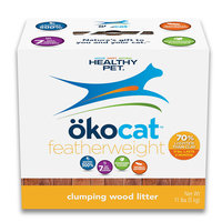 Healthy Pet okocat featherweight Naturally Lightweight Clumping Wood Cat Litter, 11 lbs.