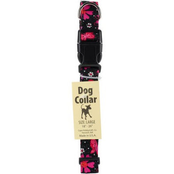 Cape Hobbycraft Large Glitter Floral Dog Collar W/Welded D-Ring Buckle-Neck Size 18