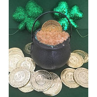 St Patrick's Day Pot of Gold hand made green Bath Bombs with Gold Sea Salt