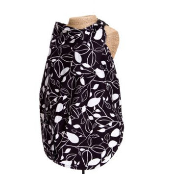 Balboa Baby Nursing Cover In Black and White Leaf