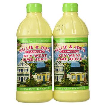 Nellie & Joe's Famous Key West Lime Juice 16 oz Plastic Bottles - Pack of 2