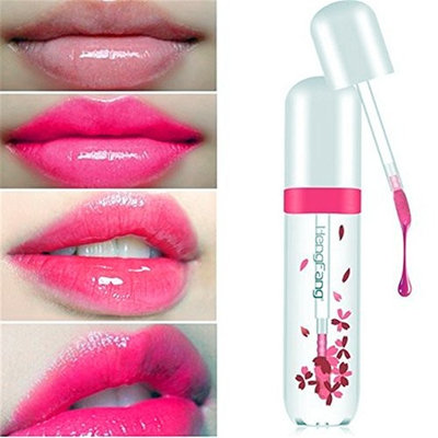 SUNNYM Lips Make Up Waterproof Long Lasting Lip Gloss Tint Change Color Baby Lips Transparent Flower Jelly Lipstick Makeup