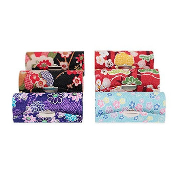 Set of 6~Cute Japanese Flower Style Lipstick Case Holder w Mirror Gift (P22635-6)~ We Pay Your Sales Tax