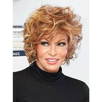 Chic Alert Wig Color RL19/23SS SHADED BISCUIT - Raquel Welch Wigs Heat Friendly Synthetic Tousled Curly Lace Front Volume Women's Memory Cap II