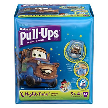 Pull-Ups Night-Time Training Pants for Boys, 3T-4T, 44 Count (Pack of 2- Total 88 Pants)(Packaging May Vary)