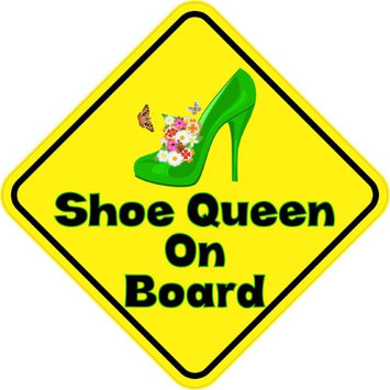 5'x 5' Shoe Queen On Board Bumper Sticker Decal Vinyl Window Stickers Decals