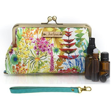 Sew Grown Purse with Built-in Essential Oil Carrying Case! (Tresco wtih Teal Wristlet)