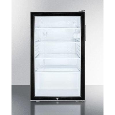 Summit SCR500BLBI7 4.1 Cu. Ft. Black Undercounter Compact Refrigerator