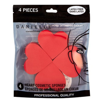 Upper Canada Soap Danielle Cosmetic Blending Sponges, Hearts, 4 Ct