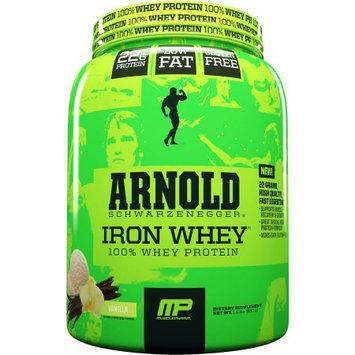 Arnold Iron MusclePharm Arnold Schwarzenegger Iron Whey 100% Whey Protein Vanilla Dietary Supplement, 1.5 lbs