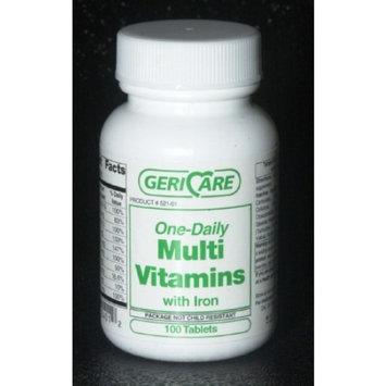 McKesson Brand Multivitamin with Iron Supplement Tablet, Bottle of 1000