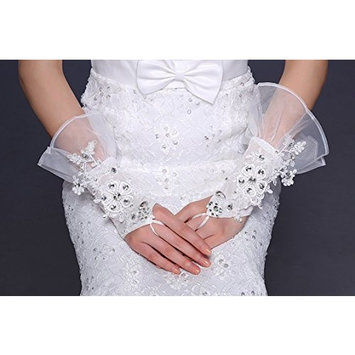 Exquisite Selebrity Fingerless Lace Rhinestone Bridal Glove