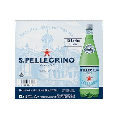 S.Pellegrino Sparkling Natural Mineral Water EGBNM, 33.8 fl oz. (Pack of 24)