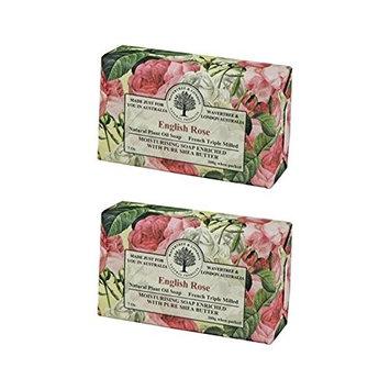 Wavertree & London English Rose Luxury Soap, 7 Oz (Pack of 2)