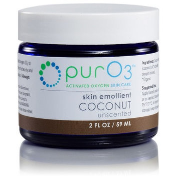 Ozonated Coconut Oil Skin Emollient PurO3 2 oz Cream