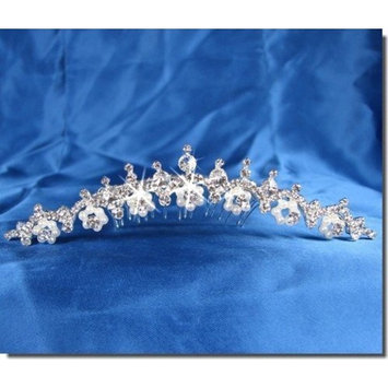 SC Princess Bridal headpieces With Crystal Flowers 23715