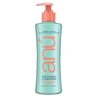 Anu Hair Cleanser & Conditioner For Medium To Coarse Hair 16oz by Anu