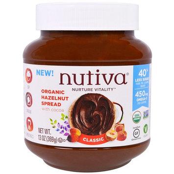 Nutiva, Organic Hazelnut Spread, Classic, 13 oz (369 g) [Flavor : Classic]