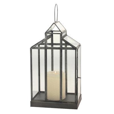 Glass Barn Terrarium Container, Clear