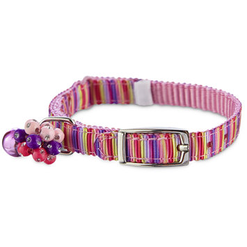 Bond & Co. Bond & Co Pink Stripe Print Kitten Collar