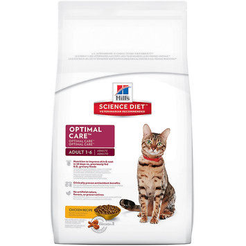 Hill's Science Diet Adult Optimal Care Dry Cat Food - 17.5 lb
