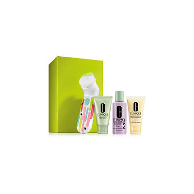 Clinique Clean Skin, Great Skincare Set for Drier Skin (Type I/II)