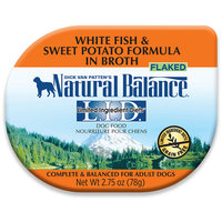 Natural Balance LID Grain Free White Fish and Sweet Potato Formula in Broth Dog Food Tray