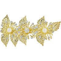 Elle Gold Flower Barrette
