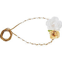 Scunci Combination 3D Flower and Suede Choker Head Wrap