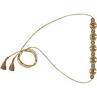 Scunci Beaded Suede Choker and Head Wrap