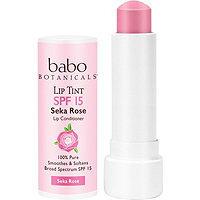 Babo Botanicals Sheer Lip Tint Conditioner SPF 15 Mineral Sunscreen Lip Balm