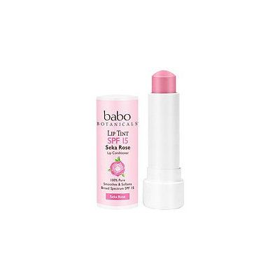 Babo Botanicals Sheer Lip Tint Conditioner SPF 15 Mineral Sunscreen Lip Balm