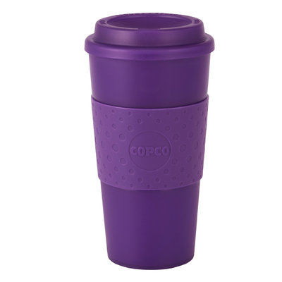 Copco Acadia Reusable 16-Ounce Travel Coffee Mug, Translucent Purple