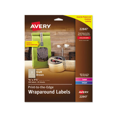 Avery AVE22847 Kraft Brown Label Strip Pack of 300