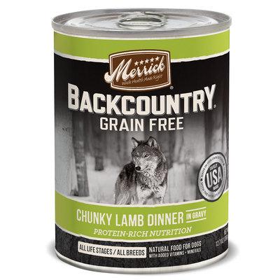 Merrick Backcountry Grain Free Chunky Lamb Canned Dog Food