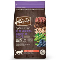 Merrick Grain Free Real Venison and Chickpeas Recipe Adult Dry Dog Food