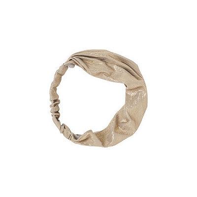 Kitsch Silver Metallic Fabric Headband