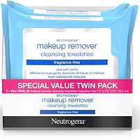Neutrogena Frangrance Free Make-Up Remover Wipes 50 Ct Twin