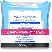 Neutrogena Frangrance Free Make-Up Remover Wipes 50 Ct Twin