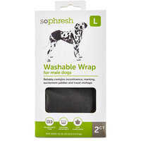 So Phresh Washable Wrap for Male Dogs, Large