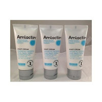 Amlactin Foot Cream Therapy Triple action Hypoallergenic- 3 OZ- 3 Pack