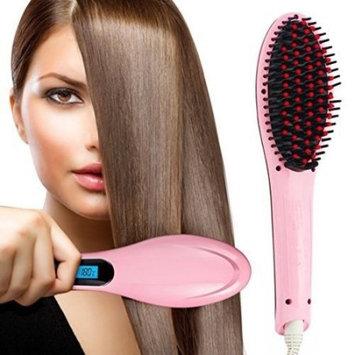 ACEVIVI Hair Brush Electric Comb Hair Straightening Irons Straightener Pink