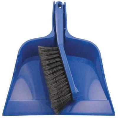 TOUGH GUY 13E198 Dust Pan and Brush Set, Blue